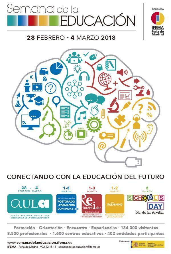 SEMANA DE LA EDUCACIÓN – PRÓXIMA CONVOCATORIA 28-FEBRERO/4-MARZO 2018