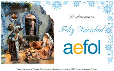 🌟El equipo AEFOL le desea Feliz Navidad 🌟