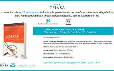 Javier Fernández Aguado presenta: «Liderar en un mundo imperfecto» el 20 de mayo en Palau Macaya