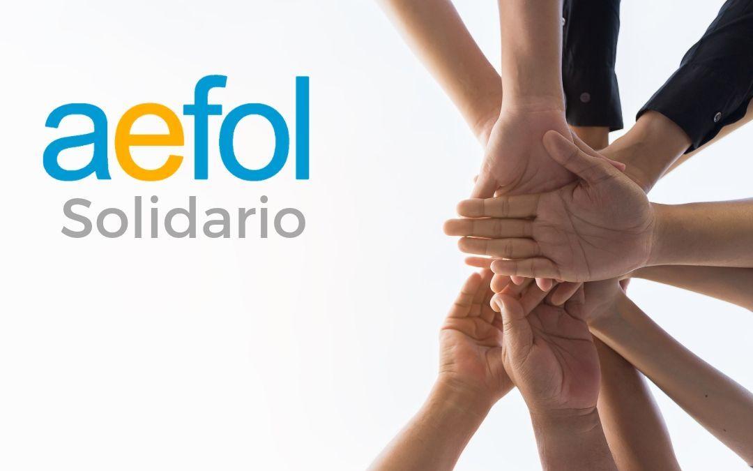 Nace AEFOL solidario para atender proyectos sociales educativos